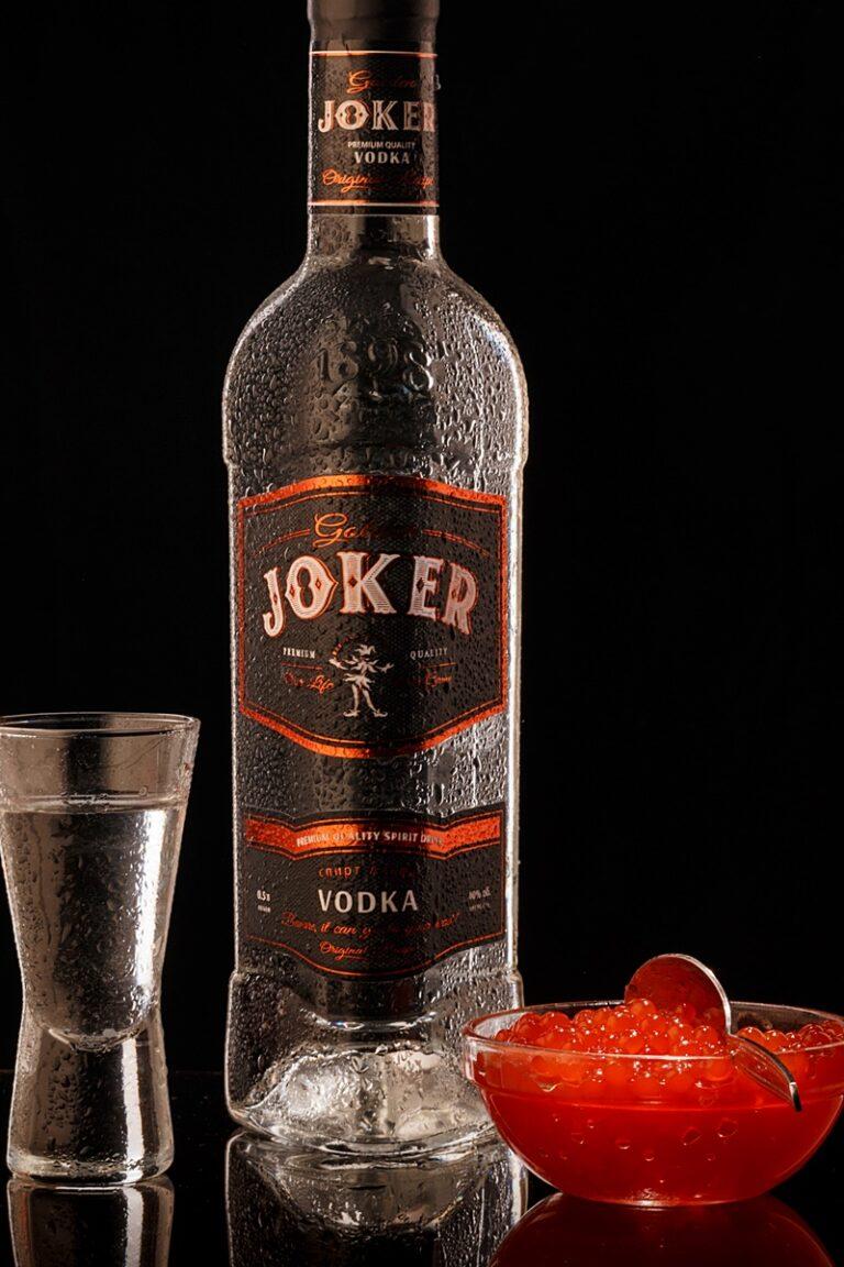 фотограф Олег Тарасенко ADV водка Joker с красной икрой vodka